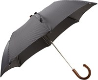 Barneys New York Compact Pinstripe Folding Umbrella Colorless