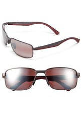 Men's Maui Jim 'Backswing Polarizedplus2' 61Mm Polarized Sunglasses Satin Dark Gunmetal Maui Rose