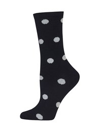 Hot Sox Marled Dot Socks Black