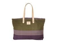 Will Leather Goods Reversible Weaver's House Olive Tote Handbags