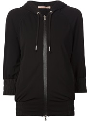 Capobianco Half Sleeve Hooded Jacket Black
