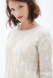 Forever 21 Braided Crew Neck Sweater