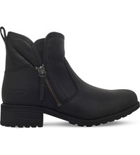 Ugg Lavelle Shearling Lined Suede Ankle Boots Black