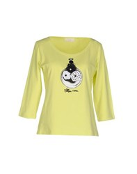 Clips More Topwear T Shirts Women Acid Green