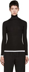 Givenchy Black And White Ribbed Turtleneck