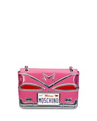 Tail Lights Quilted Shoulder Bag Pink Women's Moschino