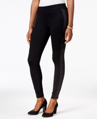 Styleandco. Style Co. Petite Mixed Media Leggings Only At Macy's Mblack