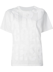 Golden Goose Deluxe Brand 'Art Goes First' Print T Shirt White