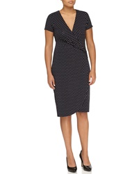 Escada Polka Dot Wrap Dress