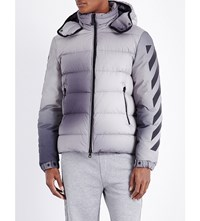 Moncler O Quilted Cotton Jacket Grey