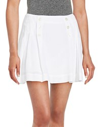 Free People Button Accented Mini Skirt White