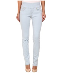 Jag Jeans Peri Pull On Straight Leg Comfort Denim In Misty Blue Misty Blue Women's Jeans White