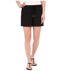 Tommy Bahama Two Palms Drawstring Shorts Black Women's Shorts