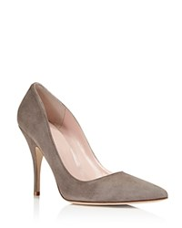 Kate Spade New York Licorice Suede Pointed Toe High Heel Pumps Portabella