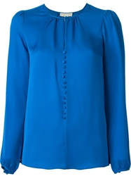 Michael Michael Kors Button Down Blouse Blue