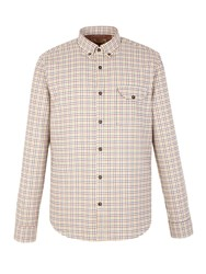 Gibson Check Tailored Fit Long Sleeve Shirt Tan