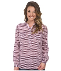 Carve Designs Dylan Gauze Shirt White Mini Riviera Women's Long Sleeve Button Up Purple