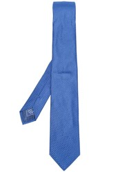 Brioni Diamond Jacquard Tie Blue