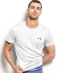 Under Armour Men's Athletic Flyweight Performance Short Sleeve Crew Neck T Shirt White