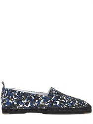 Fendi Printed Cotton Canvas Espadrilles
