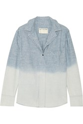 Rag And Bone Leeds Degrade Cotton Chambray Shirt Blue