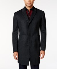 Kenneth Cole Reaction Elan Charcoal Texture Slim Fit Overcoat