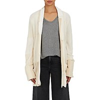 Greg Lauren Women's Smoking Cashmere Robe Cream