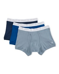 Penguin Three Pack Trunks Navy Blue Light Blue