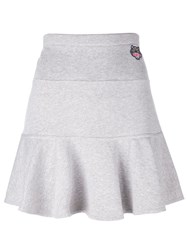 Kenzo 'Mini Tiger' Skater Skirt Grey