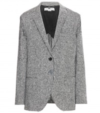 Stella Mccartney Wool Tweed Blazer Grey