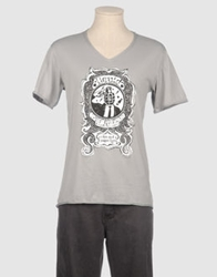 Liquid Short Sleeve T Shirts Light Grey