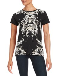 Guess Floral Print Tee Black