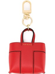 Tory Burch Shopper Tote Keyring Red