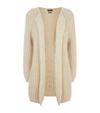 Set Chunky Knit Longline Cardigan Female Cream