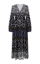 Suno Floral Long Sleeved Maxi Dress Print