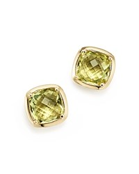 Bloomingdale's Lemon Quartz Square Stud Earrings In 14K Yellow Gold Yellow Gold