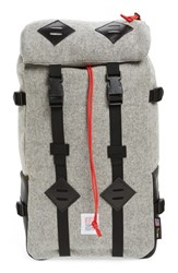 Topo Designs Men's 'Klettersack' Wool Backpack Grey Heather Grey