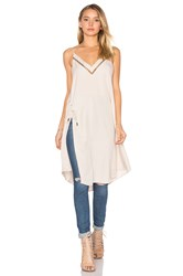 Free People Sensual Military All I Want Maxi Tank Beige
