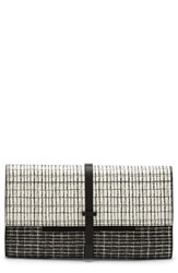 Vince Camuto 'Leila' Clutch Black Black White