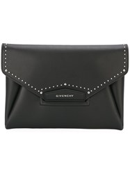 Givenchy Medium 'Antigona' Envelope Clutch Black