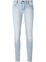 Off White Skinny Fit Jeans Blue