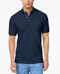 Tommy Hilfiger Men's Custom Fit Ivy Polo Mg Blue