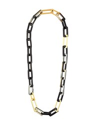 Maiyet 'Horn And Gold Link' Medium Necklace Black