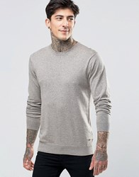 Scotch And Soda Jumper With Crew Neck Cotton In Sand Marl Sand Marl Beige
