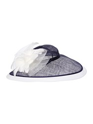 Linea Lucinda Bow Colour Block Hat White And Navy White And Navy
