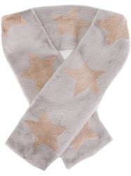 Liska Star Scarf Grey