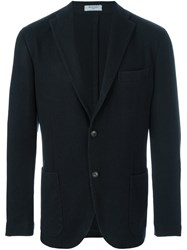 Boglioli Notched Lapel Blazer Blue