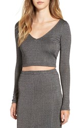 Leith Women's Rib Knit Crop Top