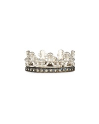 Scalloped Half Crown Silver Ring Armenta