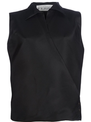 Gianfranco Ferre Vintage Sleeveless Blouse Black